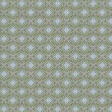 Green Geometric Decorator Fabric by Trend
