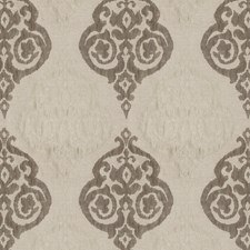 Grey Linen Damask Decorator Fabric by Trend
