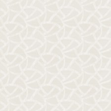 White Geometric Decorator Fabric by Fabricut