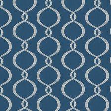 Cobalt Diamond Decorator Fabric by Vervain