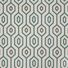 Teal Print Pattern Decorator Fabric by Fabricut