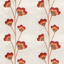Rouge Floral Decorator Fabric by Vervain