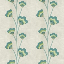 Moss Floral Decorator Fabric by Vervain