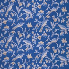 Navy Blue Animal Decorator Fabric by Stroheim