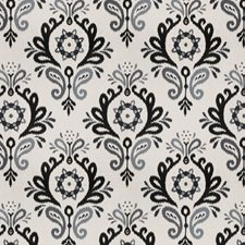 Graphite Damask Decorator Fabric by Vervain