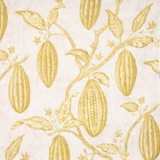 Citrine Leaves Decorator Fabric by Vervain