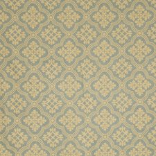 Aqua Floral Decorator Fabric by Vervain
