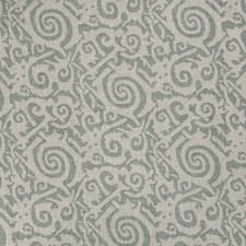 Aqua Geometric Decorator Fabric by Vervain