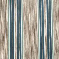 Peacock Stripes Decorator Fabric by Vervain