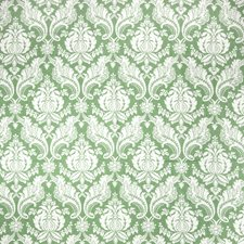 Kelly Green Damask Decorator Fabric by Vervain