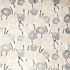 Polished Silver Floral Decorator Fabric by Vervain