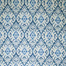Indigo Geometric Decorator Fabric by Vervain