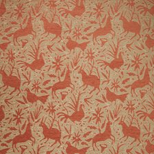Tangerine Animal Decorator Fabric by Vervain