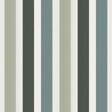 Deep Verdigris Stripes Decorator Fabric by Vervain