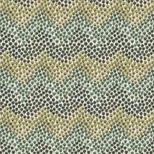 Jade Herringbone Decorator Fabric by S. Harris