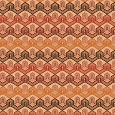Firebrick Contemporary Decorator Fabric by S. Harris