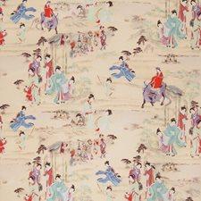 Turquoise Jewel Asian Decorator Fabric by Fabricut