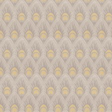 Yellow Grey Animal Decorator Fabric by Trend