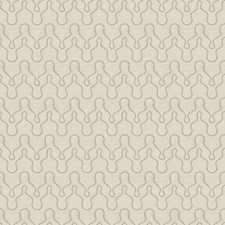 Grey On Cream Embroidery Decorator Fabric by Vervain