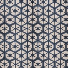 Indigo Geometric Decorator Fabric by Fabricut