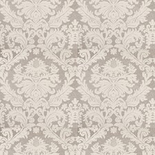 Silver Ice Damask Decorator Fabric by Vervain