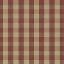 Cranberry Check Decorator Fabric by Stroheim