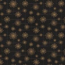 Black Glow Geometric Decorator Fabric by Fabricut