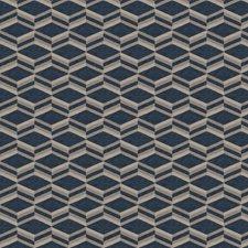 Navy Geometric Decorator Fabric by Fabricut