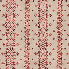 Carnelian Embroidery Decorator Fabric by Vervain