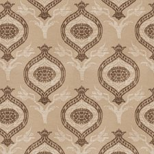 Tea Leaf Damask Decorator Fabric by Vervain