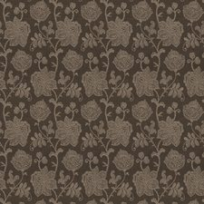 Charcoal Floral Decorator Fabric by Vervain