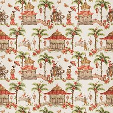 Coral Asian Decorator Fabric by Fabricut