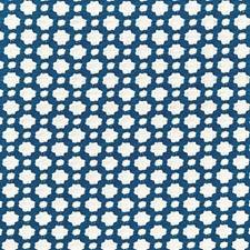 Indigo/Ivory Decorator Fabric by F Schumacher