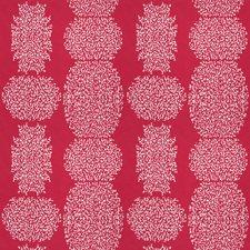 Raspberry Geometric Decorator Fabric by Fabricut