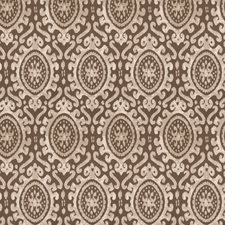 Ash Brown Damask Decorator Fabric by Stroheim