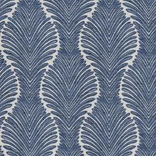 Denim Leaves Decorator Fabric by Fabricut