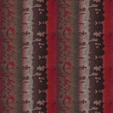 Blistering Rose Stripes Decorator Fabric by S. Harris