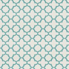 Turquoise Geometric Decorator Fabric by Stroheim
