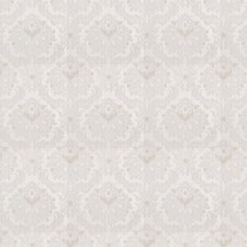 Cream Damask Decorator Fabric by Trend