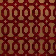 Berry Geometric Decorator Fabric by Trend