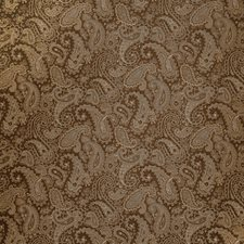 Chocolate Paisley Decorator Fabric by Trend