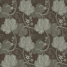 Teal Leaves Decorator Fabric by Trend