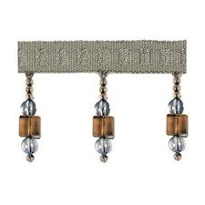Beaded Cocoa/Silver Trim by Duralee