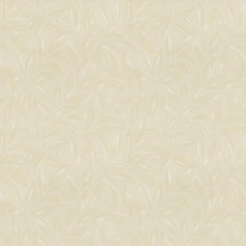 Cream Leaves Decorator Fabric by Trend