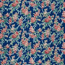 Navy Floral Decorator Fabric by Stroheim
