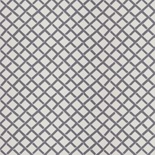 Grey Geometric Decorator Fabric by Stroheim