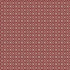 Apple Red Geometric Decorator Fabric by Fabricut