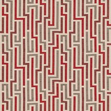 Vermillion Geometric Decorator Fabric by Fabricut