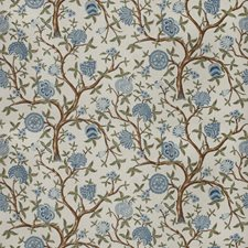 Bleu Floral Decorator Fabric by Fabricut
