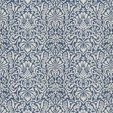 Blue Print Pattern Decorator Fabric by Trend